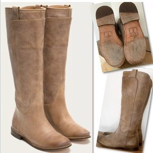 Frye Shoes - FRYE Paige Tall Leather Riding Boots SZ 8 77534